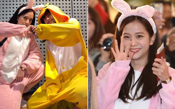Jisoo và Lisa chiếm trọn spotlight sân bay với màn cosplay thỏ - vịt ...
