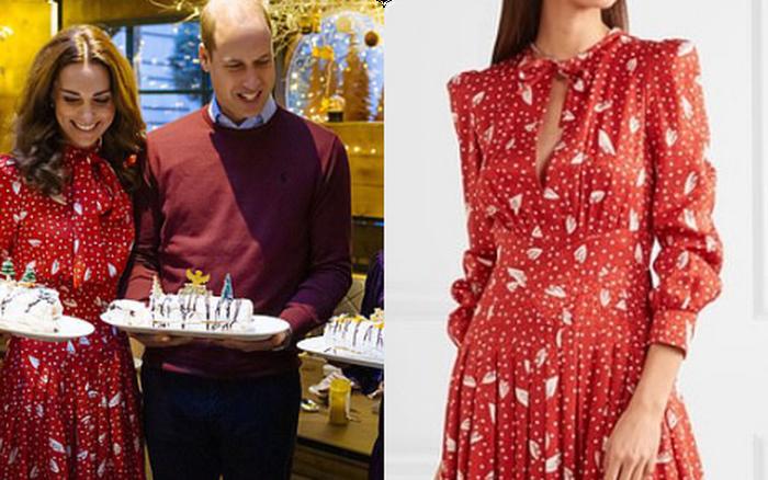 Để không hớ hênh khi mặc váy hở ngực, Công nương Kate khéo ...