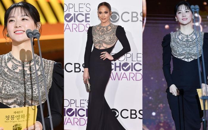 Một chiếc váy hai thái cực: Lee Young Ae nền nã, Jennifer Lopez thì ...