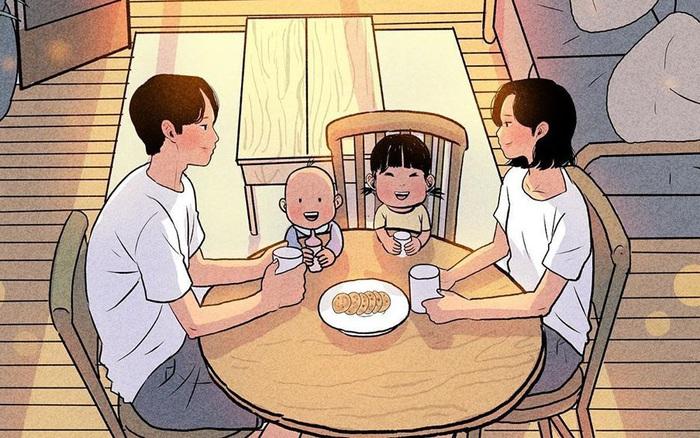 Không rời mắt được trước bộ tranh nhẹ nhàng sâu lắng về gia đình ...