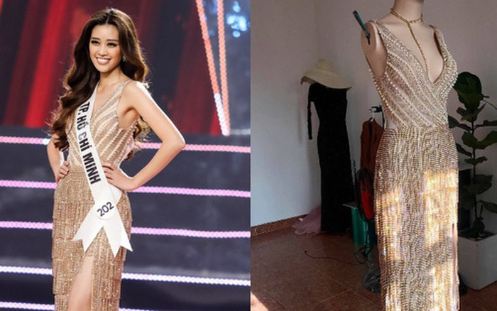 Đầm dạ hội Hoa hậu Khánh Vân diện lúc đăng quang: Zoom kỹ mới thấy lộng lẫy ...