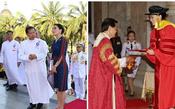 Hoàng hậu Thái Lan rạng rỡ đi dự sự kiện một mình và nhận bằng Tiến ...
