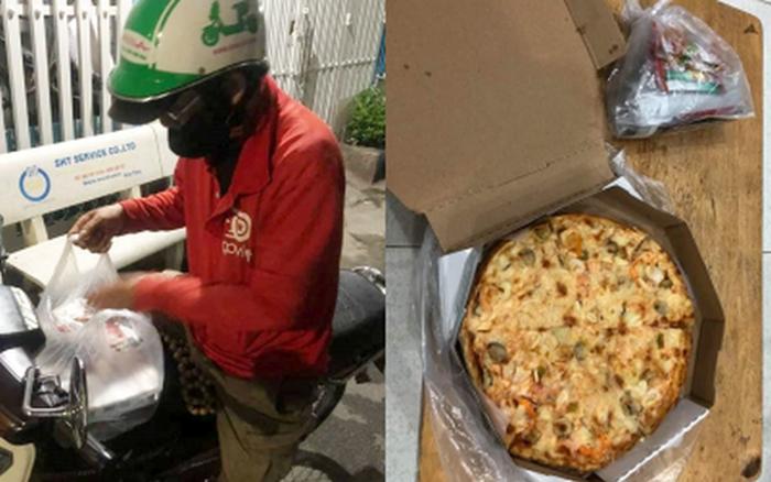 """Chú xe ôm buồn bã khi bị """"thượng đế"""" bom chiếc pizza gần 200k giữa đêm"""