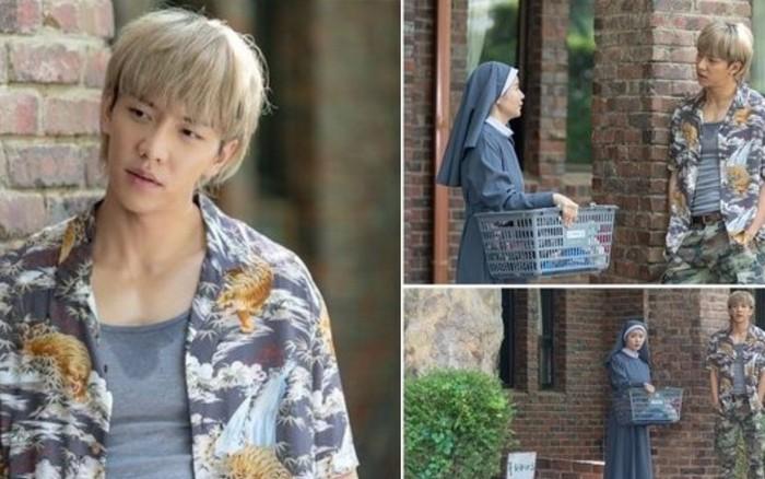 Lee Seung Gi gây sốc khi nhuộm tóc vàng hoe, ăn diện như bụi đời trong phim ...