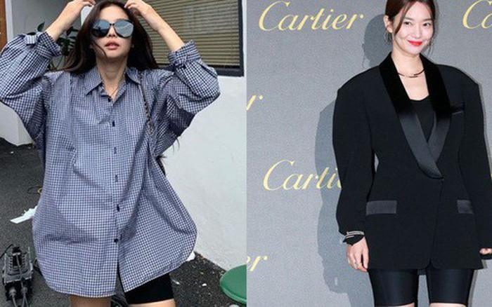 """Sao Hàn diện hot trend quần short bó chịt """"hiểm hóc"""": Jennie, Hyuna vẫn xuất sắc; Seulgi, ..."""