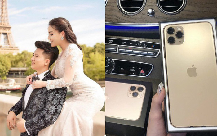 """Hết tăng 10kg, nữ giảng viên Âu Hà My lại khoe Iphone 11 Pro Max mới """"sốt sình ..."""