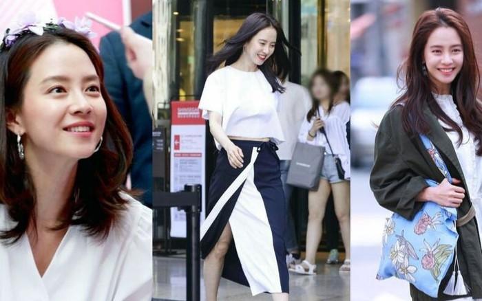 để hack từ 38 tuổi mà trông như gái đôi mươi, Song Ji Hyo đã áp dụng 3 tips