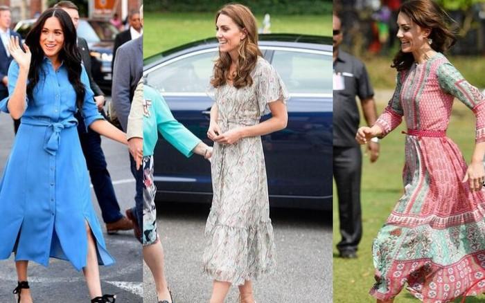 Chọn giày đế xuồng hóa ra là nước cờ thông minh của chị em dâu Kate - Meghan
