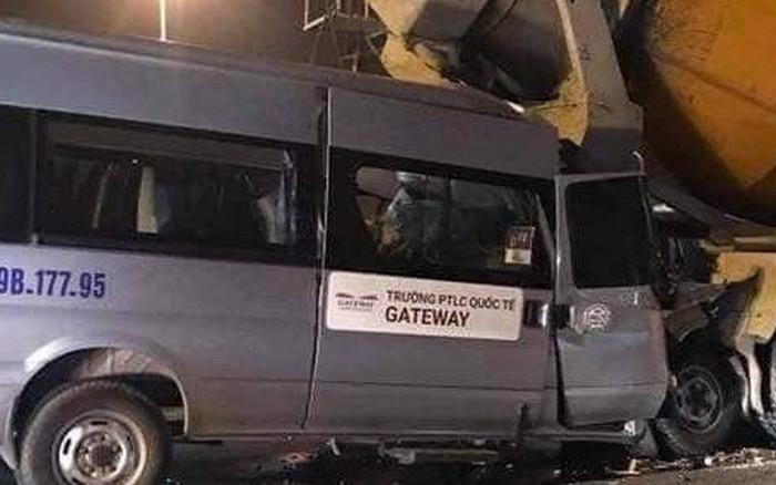 Danh tính tài xế xe gắn biển trường Gateway nhập viện sau khi đâm trúng xe bồn