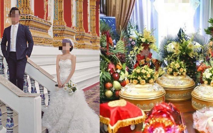 Sau khi chụp ảnh cưới ở Thái Lan và lễ ăn hỏi hoành tráng cùng màn trao ...