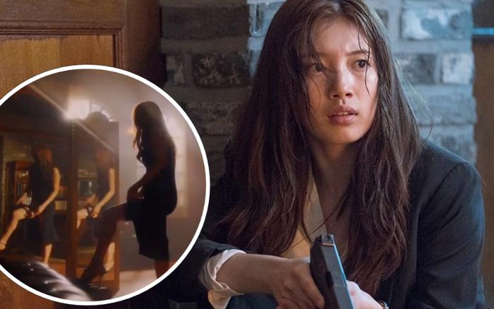Suzy lộ chân dài miên man, kéo váy gài súng trong phim mới đóng ...