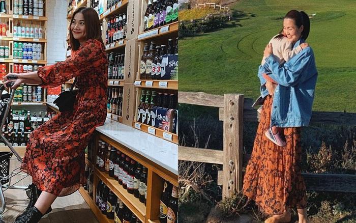 Cùng mê váy họa tiết dáng dài nhưng Thanh Hằng và ...
